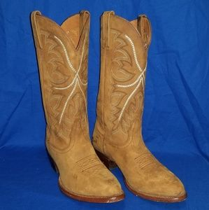 Nocona Brown Leather Cowboy Western Boots Mens 11